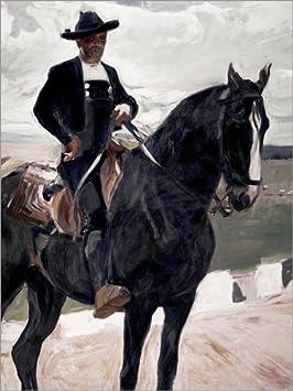 Posterlounge Cuadro de Aluminio 70 x 90 cm: Salamancan on Horseback de Joaquín Sorolla y Bastida/akg-Images