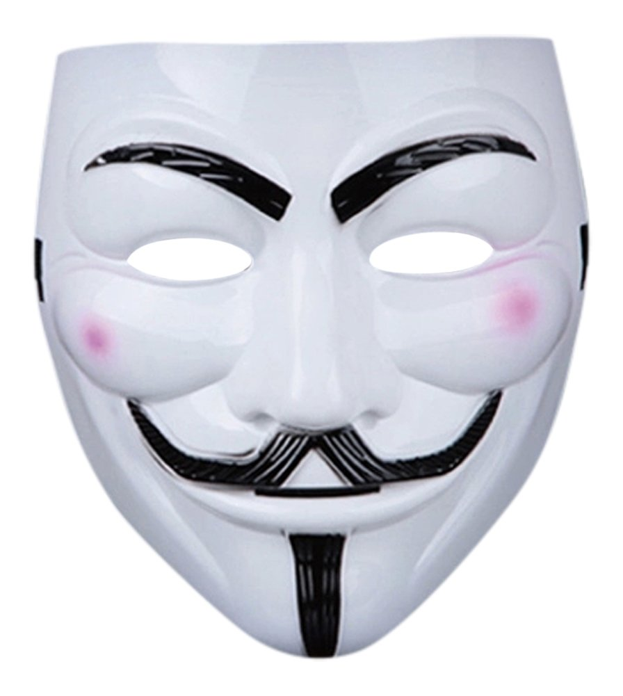 1 x Fancy Dress Adults PVC Quality Mask with Elasticated Strap V for Vendetta Guy Fawkes Face Mask Fancy Halloween Costumeplay by Ultra (1 Mask) UltraByEasyPeasyStore VFV1