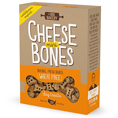 Wheat Free Bones Natural Made in the USA Healthy Dogs Treat Biscuits Bone Treats small mini Great For Training limited ingredient dog treats crunchy (Cheese, Mini Size ()