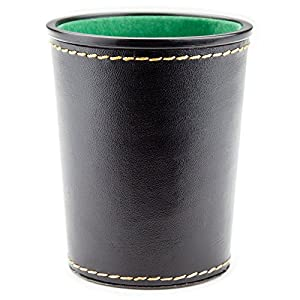 Amazoncom  FeltLined Synthetic Leather Dice Cup By Brybelly - Vinyl dice cup
