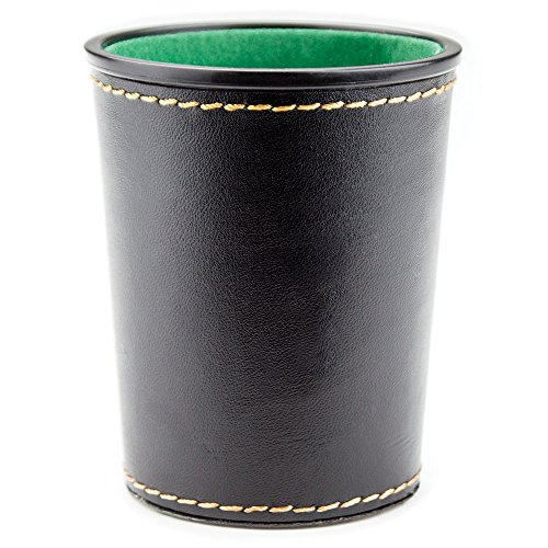 (Felt-Lined Synthetic Leather Dice Cup by)