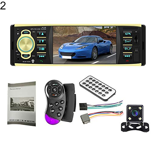 JYS365 4019B 4.1 Inch 1 Din Car Radio Bluetooth Video MP5 Player with Rearview Camera with 4-LED Rear Camera