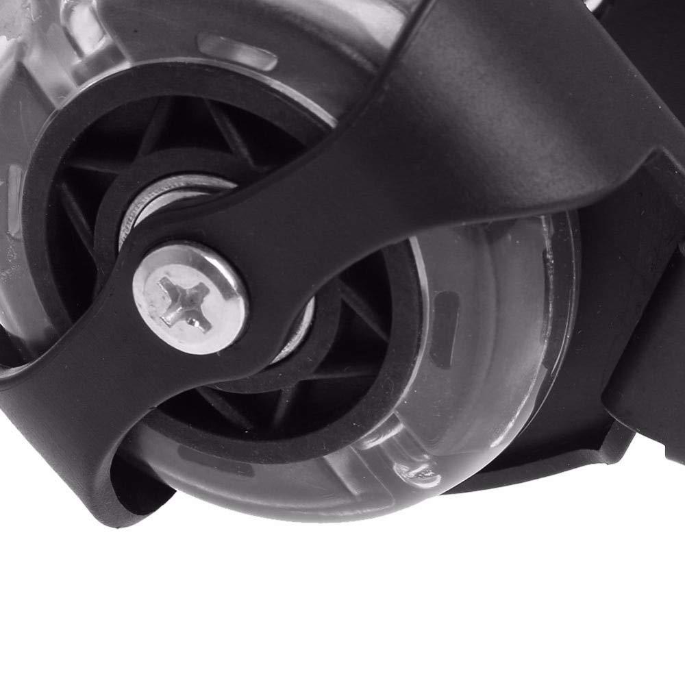 LooBooShop ren Wheel Heel Roller Light Adjustable Skates Falsh Blade Shoe Strap