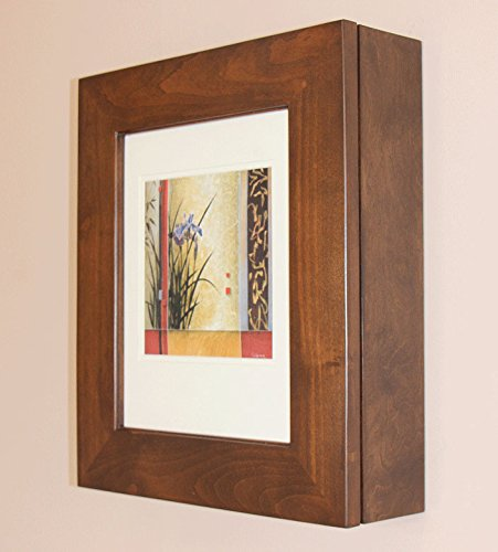 Caramel Picture Perfect Medicine Cabinet, a wall-mount picture frame medicine cabinet without mirror (Available in White, Coffee Bean, & Caramel) by The Concealed Cabinet by iinnovators