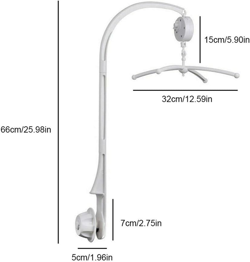 LQKYWNA Lit B/éb/é de Bell Porte S/écurit/é Berceau D/écoration Hanging Bras Support Lit Poup/ée en Rack Support avec M/écanique Music Box