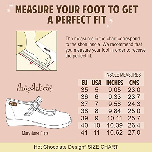 Mujeres Mary Chocolaticas Bailarina Chocolate Jane Design para colores Hot Popcorn Varios Cq1Z8Pxxw