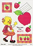 Suzy's Zoo Suzy Ducken Back to School Apple Sticker 6 inches by 4.5 inches