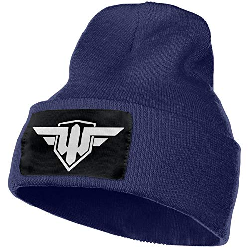 (SmallHan Mens & Womens World Of Warships Fans Skull Beanie Hats Winter Knitted Caps Soft Warm Ski Hat Navy)