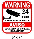 1-Pc Paradisiac Popular Warning Sticker Decal Sign Being Watched Video Recording Surveillance Size 8