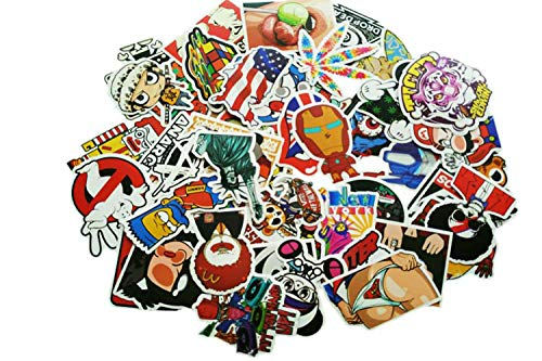 (50 Stickers Wholesale lot Hippie Decals Bomb car Window)