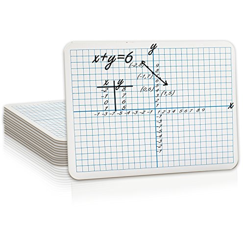 "Student Grid (12 Pack Dry Erase XY Axis Lap Board 9""X12"" 