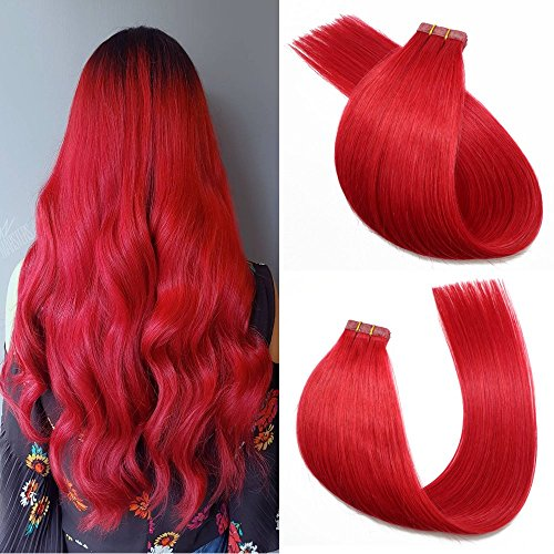 Buy red hair clip in extensions