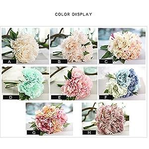 Magnolia Floral Bouquet,Han Shi Modern Artificial Fake Flowers Leaf Wedding Party Decor 4