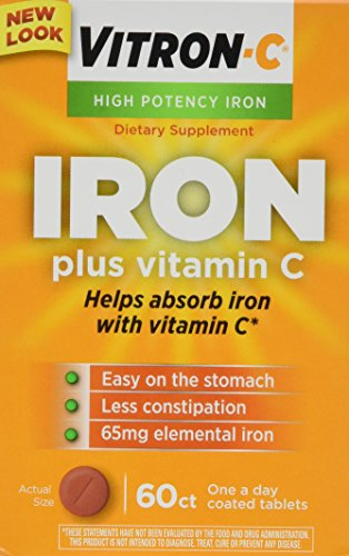 (Vitron-c High Potency Iron Supplement Tablets 60 Ct (Pack of)