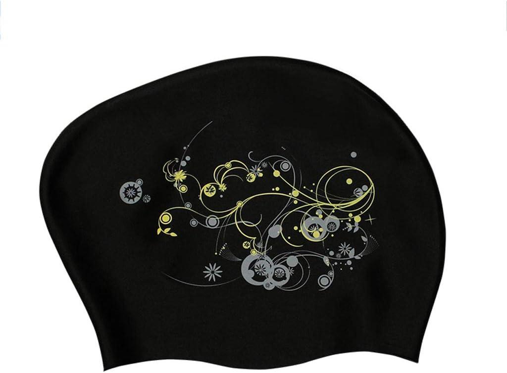 Adult Unisex Fashion Printing Swimming Cap Waterproof Silicone Swiming Pool Hat