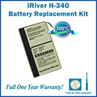 iRiver H-340 Battery Replacement Kit with Installation Video, Tools, and Extended Life Battery #DA2WB18D2