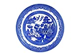 """Churchill Blue Willow Fine China Earthenware Bowl 7.9"""" Set Of 6, Made In England"""