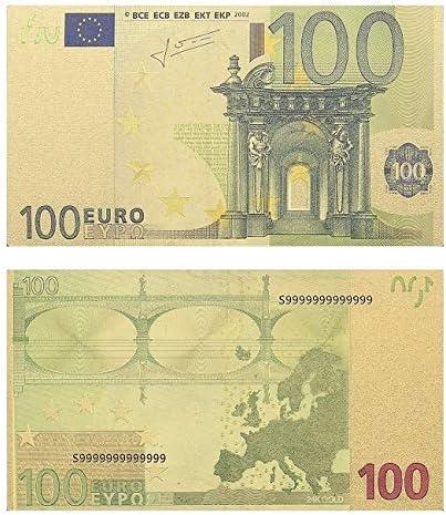 ZYZRYP 24Kゴールドメッキ紙幣コピー用紙マネー500 EUROビル・コレクションホームデコレーション工芸 使いやすい (色 : M006G 10)
