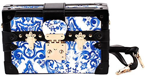 China Ladies Handbags (Show Story Women's Girls Elegant Blue And White China Fashion Outdoor Clutch Handbag Bag Purse,FB90019BU,Blue And White China)