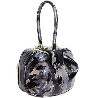 28c4bbe087 Qidell Women's Genuine Leather Snakeskin Embossed Wristlet Handbags Top  Handle Purse Clutch tote