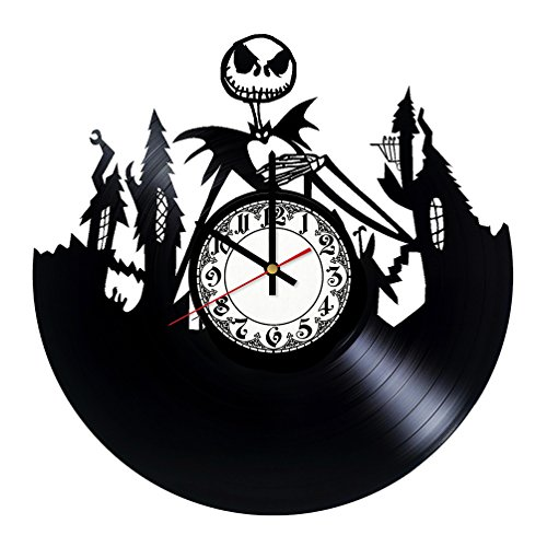 The Nightmare Before Christmas Jack Skellington Halloween Town Film HANDMADE Vinyl Record Wall Clock - Home Decor - Wall Decor - Wall Art - Gift Ideas