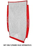 PowerNet 4x7 Portable Pitching I-Screen NET ONLY | Baseball Pitcher Protection | Instant Player and Coach Protector from Line Drives Grounders | Heavy Duty Knottless Netting | Batting Practice