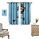 Best Div X Players - Sports Window Curtain Fabric American Football League Game Review