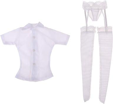 sharprepublic 1/6 Camisa Blanca Calzoncillos Traje de Cosplay de Figuras de Acción: Amazon.es: Juguetes y juegos