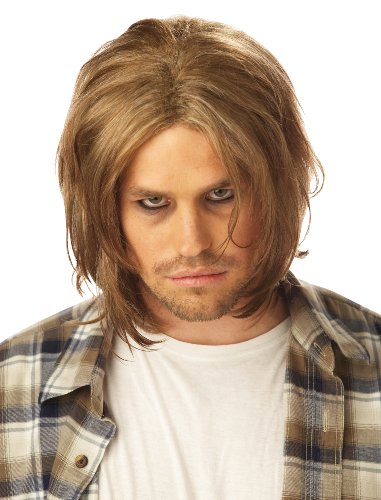 Kurt Cobain Costume (California Costumes Men's Grunge Wig, Dirty Blonde,One Size)