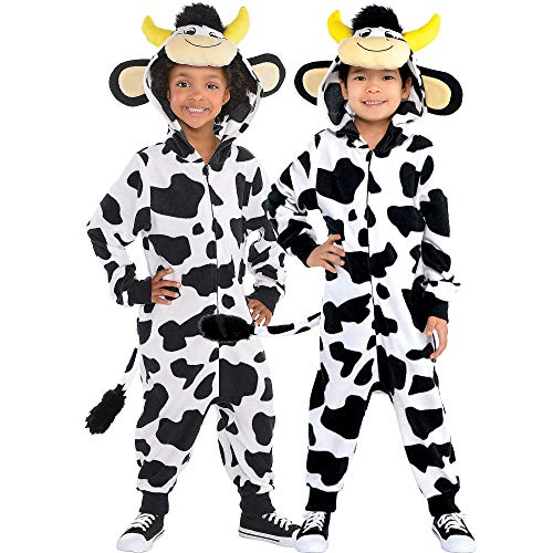 Suit Yourself Zipster Cow One-Piece Costume for Children,