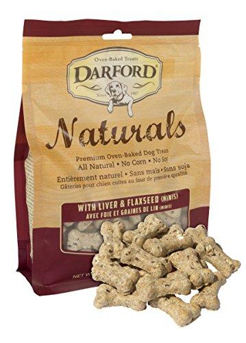 (Naturals Liver & Flaxseed Mini Bone Dog Treats 14.1oz )