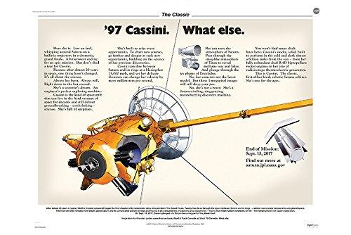 Cassini 97 What Else. Commemorative Saturn Exploration Poster - NASA Space Image 36 x