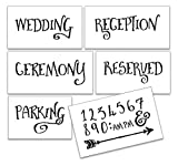 Wedding Stencil Words - Locations - Fancy Funky 6pc Jumbo Set - STCL1594_4 by StudioR12