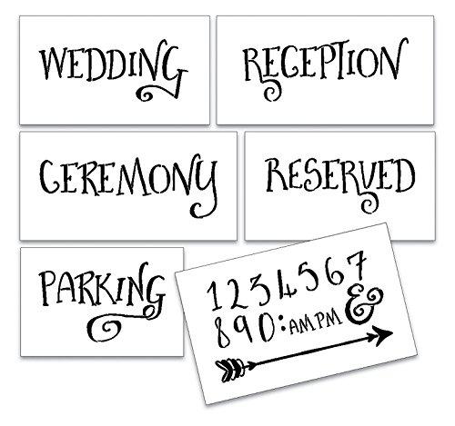 Wedding Stencil Words - Locations - Fancy Funky 6pc Jumbo Set - STCL1594_4 by StudioR12 by Studio R 12