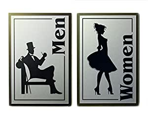 Amazoncom VintageRetro Look Restroom Signs Men and