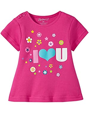 I Heart U Screen Swing Tee (Baby)