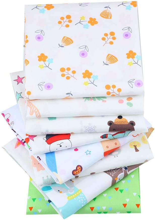 Cartoon Style Sewing Paper Towels to Stitching 8pcs Batch 40 x 50cm NO Repeat Design Printed Floral Cotton Fabric Suitable for Stitching