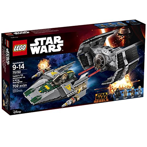 LEGO Star Wars Vader's TIE Advanced vs. A-Wing Starfighter 75150 (Lego Star Wars Double Sets)