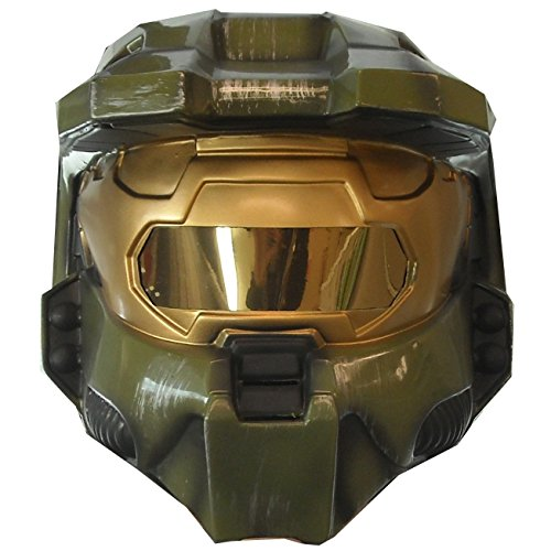 Halo 3 Master Chief Adult Costumes - Halo 3 Master Chief 2 Piece Deluxe Helmet Halloween Mask