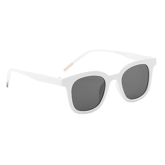 ANAZOZ Gafas de Sol Lente Blanco Gris Gafas de Sol Mujer ...