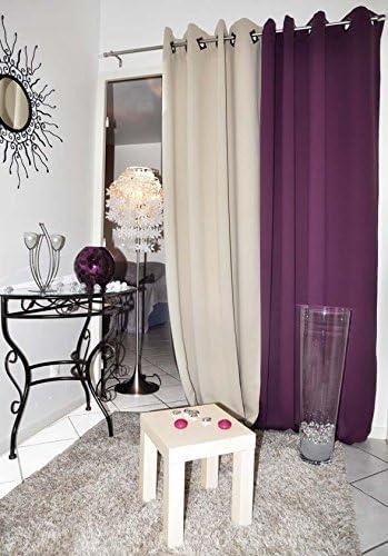 Lovely Casa R69449062 Night - Cortina opaca (algodón, 135 x 260 cm), color gris: Amazon.es: Hogar