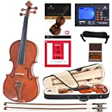 Cecilio CVN-200 Solidwood Violin with D'Addario Prelude Strings, Size 1/4