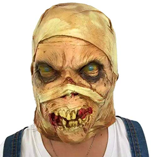 Party Masks - Scary Latex Mummy Butcher Bandage Rotten Zombie Party Mask Festival Costume Stage Prop Masks - Gold Adults Props Women Bulk Men And Superhero Couples Holloween -