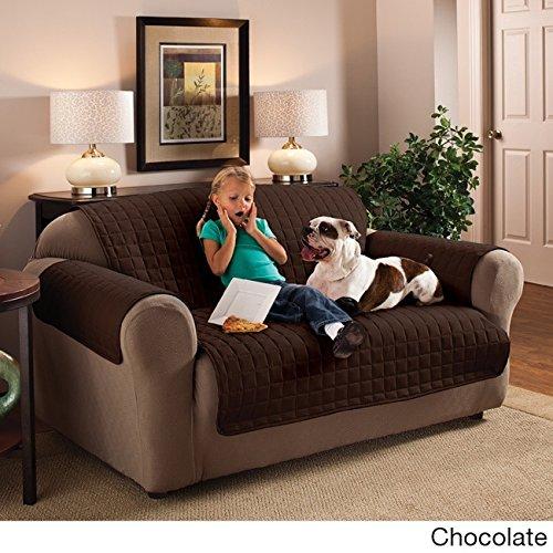 Innovative Textile Microfiber Loveseat Furniture Protector, Chocolate