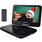 "DBPOWER 10.5"" Portable DVD Player with Swivel Screen,Black"