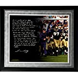 NCAA Notre Dame Fighting Irish Lou Holtz Facsimile 'College Football Playoffs' Story Metallic Framed 16x20-Inch Photo