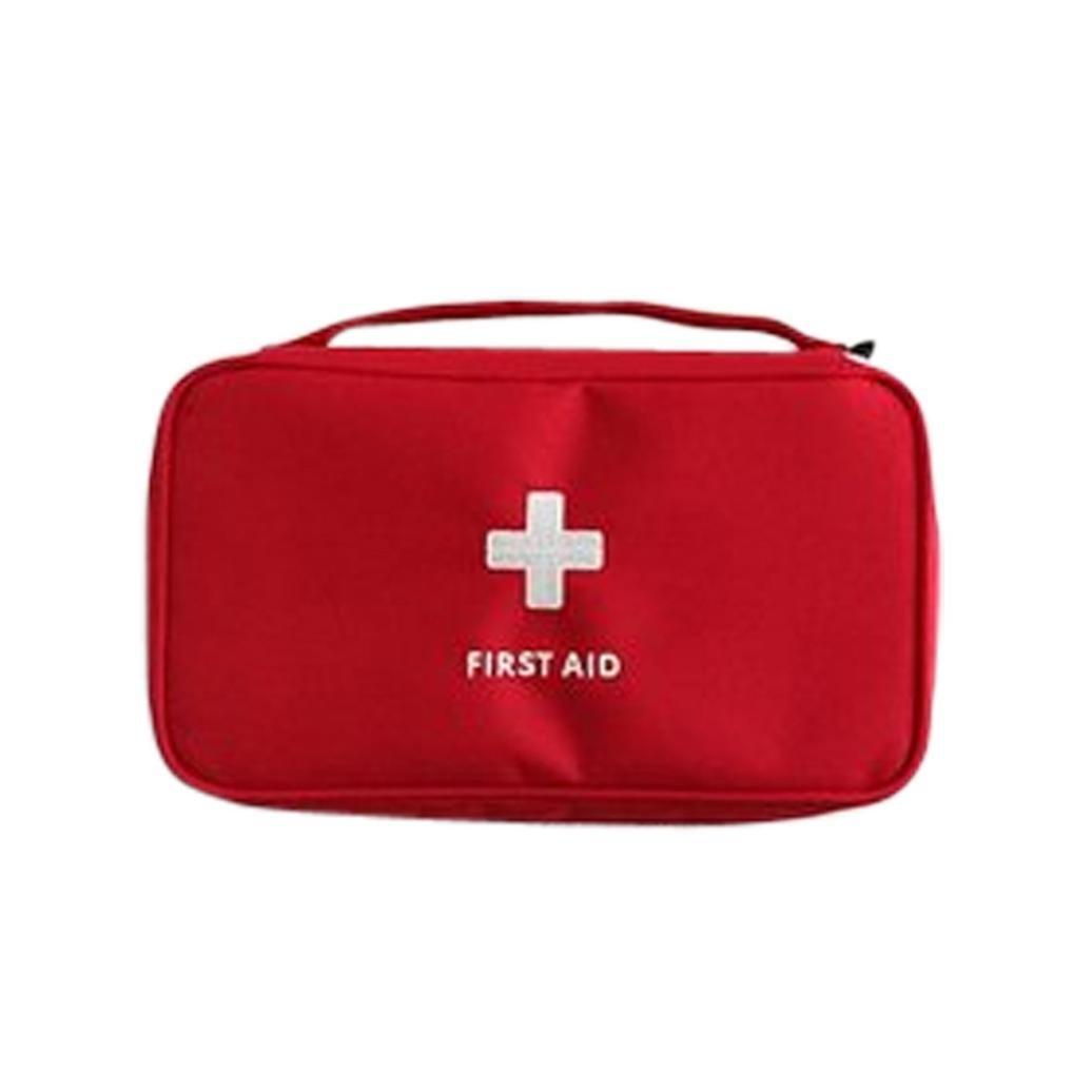 Rameng- Sac Urgence, Trousses de Premier Secours Voyage Portable Sac Médical (Rouge)