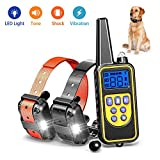 Cheap igingko Dog Training Collar with Remote for 2 Dogs, 100% Waterproof and Rechargeable Shock Collar with 4 Modes: LED Light/Beep/Vibration/Shock,Electric E-Collar for Small,Medium, Large Dogs