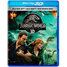 Jurassic World Fallen Kingdom (Jurassic World El Reino Caído) BLU-RAY 3D + BLU-RAY + DVD (English, Spanish and Portuguese Audio & Subtitles) IMPORT