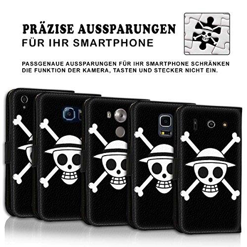 Wallet Book Style Flip Handy Tasche Case Schutz Hülle Schale Motiv Etui für Apple iPhone 6 Plus / 6S Plus - Design Flip MVD327